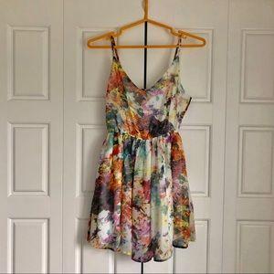 F21 Floral/Watercolour Dress